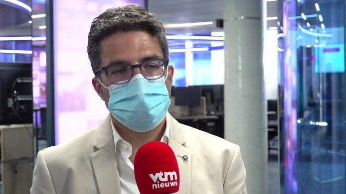 Steven Van Gucht bij VTM Nieuws.
