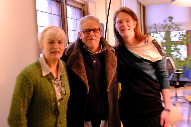 Kunstenaar Jan Fabre met schepen Caroline Bastiaens (r.).