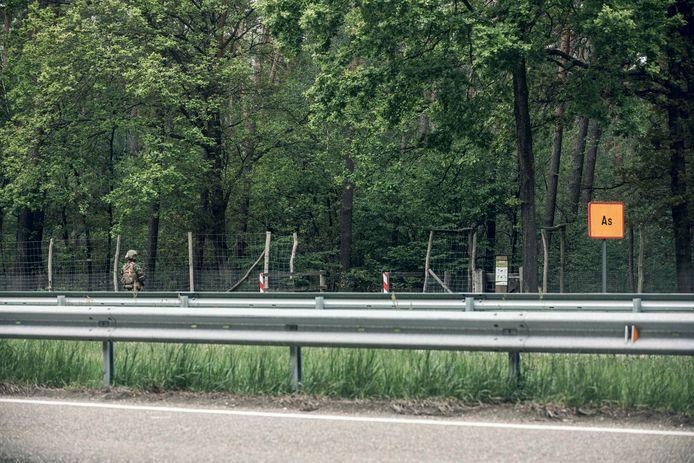 Zoekacties omtrent Jürgen Conings aan Nationaal park Hoge Kempen in Dilsen-Stokkem.