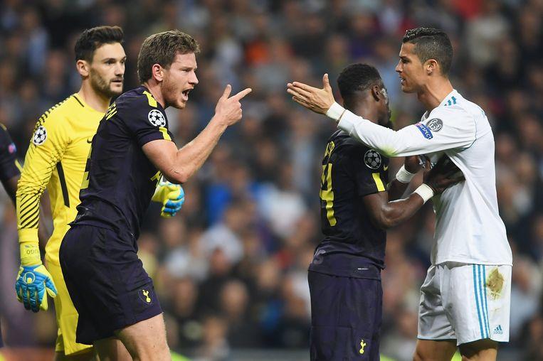Vertonghen en Ronaldo krijgen het aan de stok.