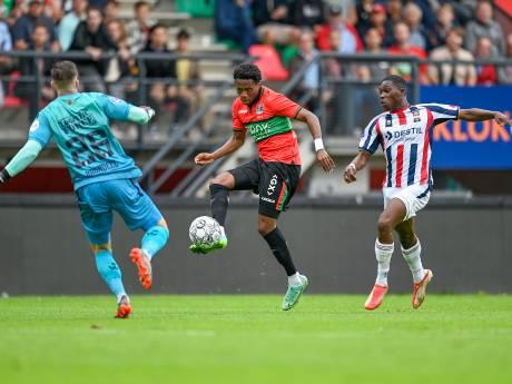 NEC speelt 75 minuten met een man meer, maar wint niet van Willem II