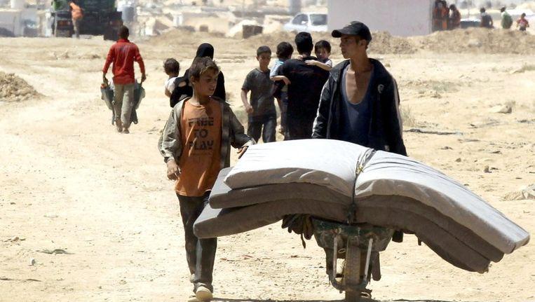 Syrische vluchtelingen in Jordanië. Beeld ANP
