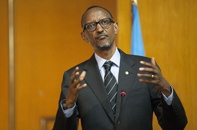 De Rwandese president Paul Kagame. Beeld AFP