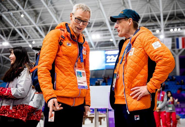 Jillert Anema (R) en Arie Koops, technisch directeur KNSB Beeld anp