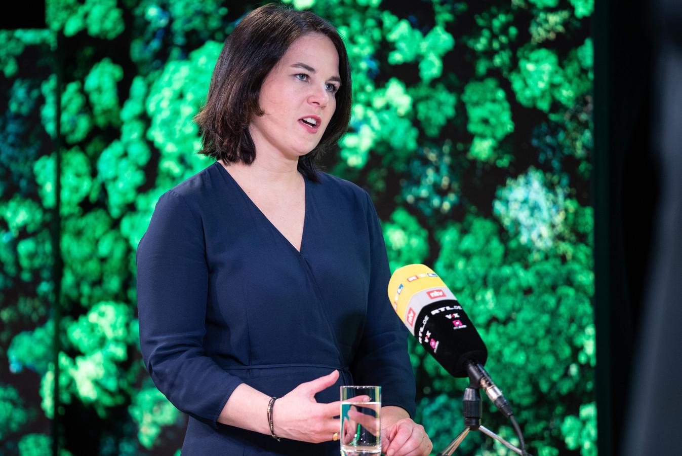 Annalena Baerbock is de kanselierskandidate van de Groene partij.