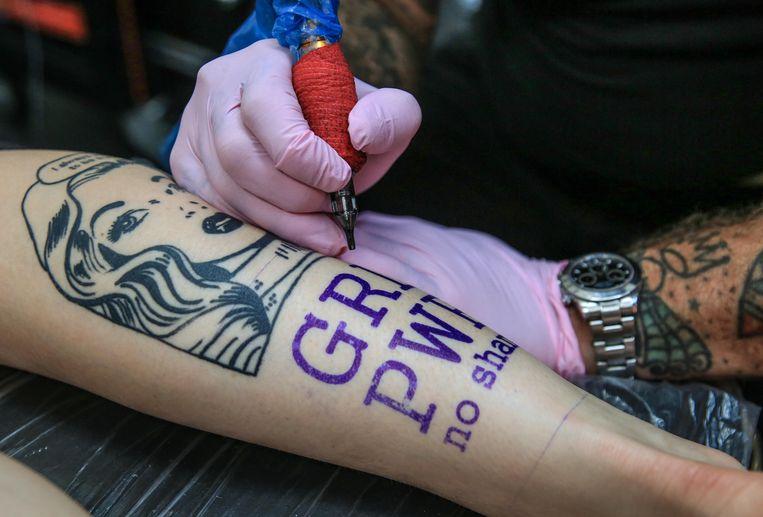 De print van de tattoo.