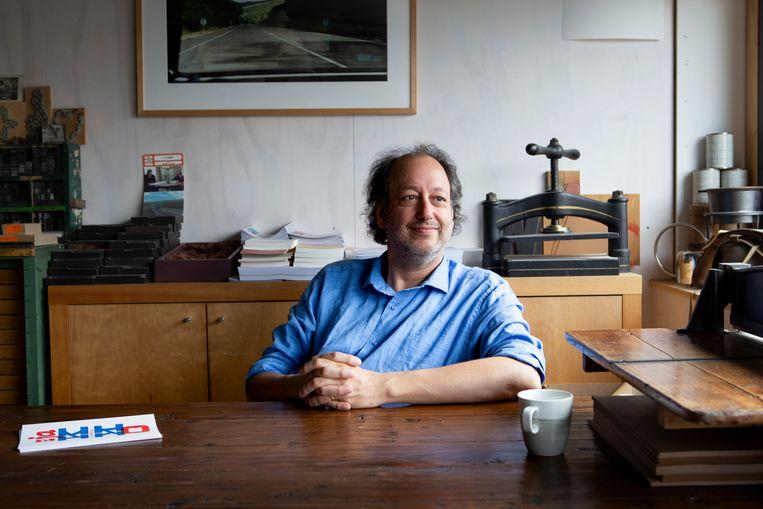 Marc Vleugels, eigenaar van uitgeverij Vleugels. Beeld Pauline Niks