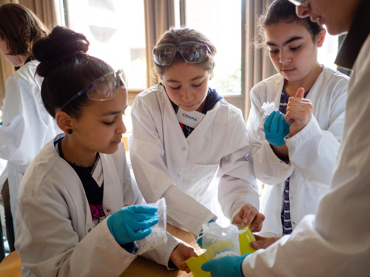 TADA-leerlingen in actie (foto werd genomen voor de coronacrisis).