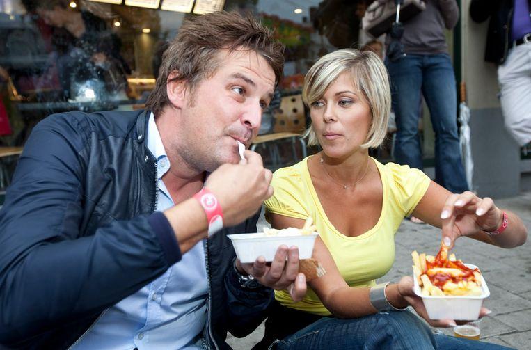 Met Hanne Troonbeeckx in 'The Block'. Beeld PHOTO_NEWS