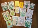 Enkele van de getekende kaarten.