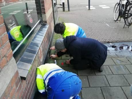 Gewonde kat die al drie dagen vast zat in muur van Utrechts café is spoorloos verdwenen