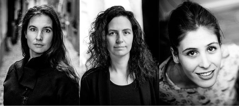 Hannah Roels, Fien De Meulder en Zita Theunynck. Beeld Kristof Vadino / Koen Broos / Frank Nieuwenhuis