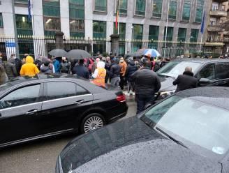 Uber-chauffeurs leggen verkeer kleine Brusselse ring stil uit protest