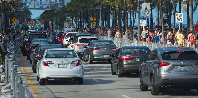 Vorig jaar was het onder meer druk in Fort Lauderdale tijdens de spring break.