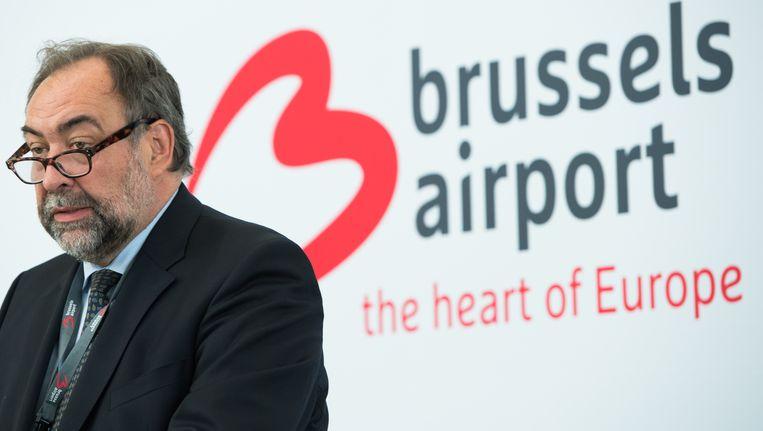 Marc Descheemaecker, voorzitter van de raad van bestuur van Brussels Airport. Beeld BELGA