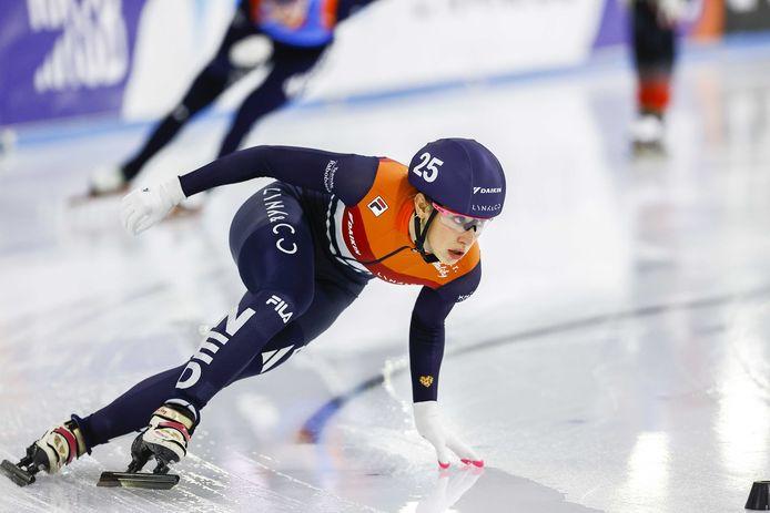 Suzanne Schulting was slotrijdster voor Nederland op de relay.