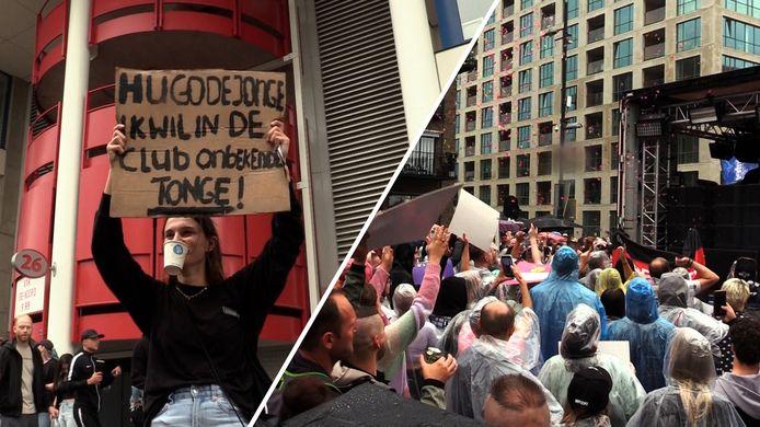 Grote drukte bij Unmute Us protest in Eindhoven: 'Het is een protest, maar ook een beetje een feestje'