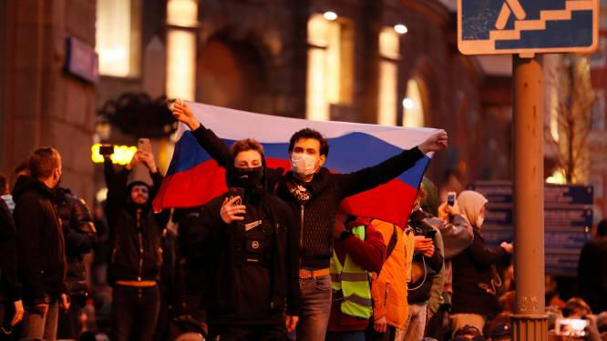 Navalny-aanhangers geleidelijk overal in Rusland de straat op