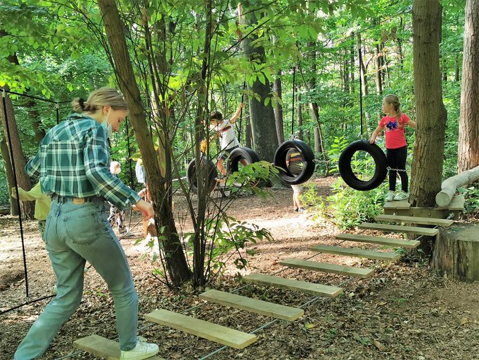 Het touwenparcours op Hanenbos werd dit jaar helemaal vernieuwd.