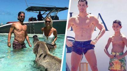 Sterren op vakantie: Ronaldo en zoon stoer op luxejacht -  Mertens geniet van de Bahama's