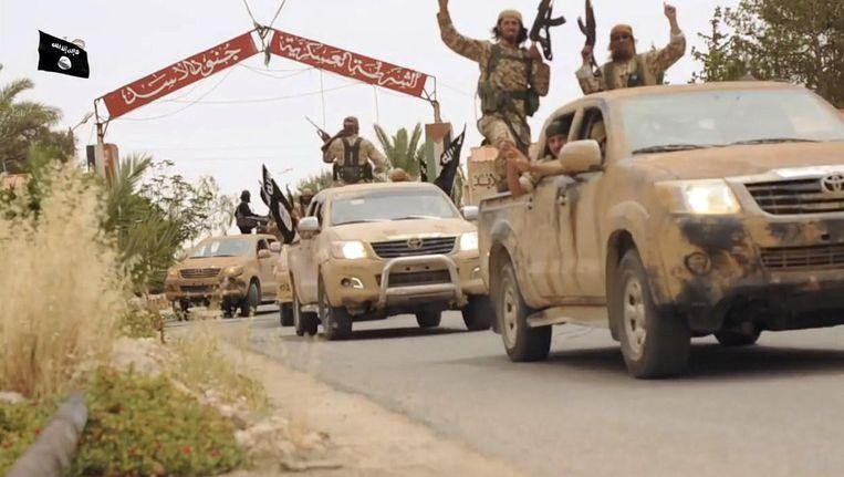 Strijders van Islamitische Staat in Syrië. Beeld afp