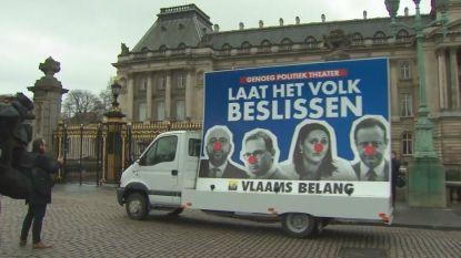 VIDEO. Vlaams Belang voert protest voor paleis