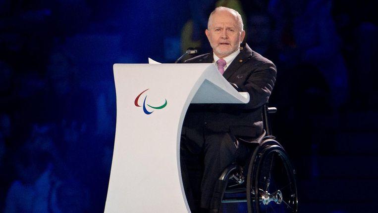 IPC-voorzitter Philip Craven bij de Paralympische Spelen in Sochi, in 2014. Beeld anp