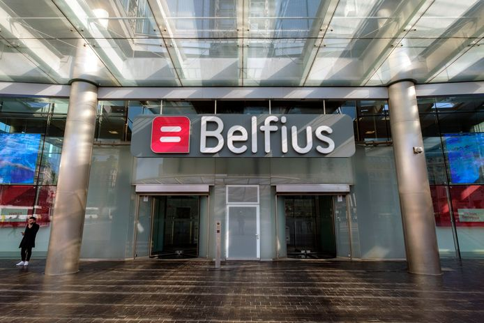 - Logo companies  * Belfius  Brussels  Belgium   APRIL 1 2019    pict. by Christophe Licoppe  © Photo News