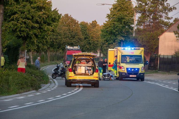 Het ongeval gebeurde op de Serskampsteenweg.