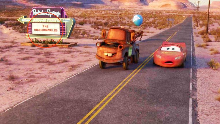 Cars Incredibles easter egg disney