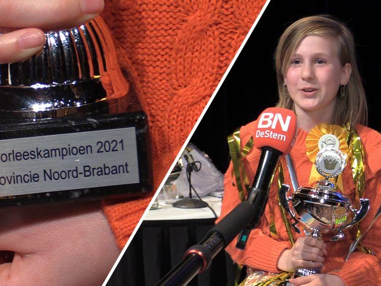 Sam (12) wint de Brabantse provinciale Voorleeswedstrijd: 'Ik dacht dat ik droomde'