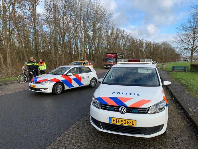 De politie bij de Vale Waard.
