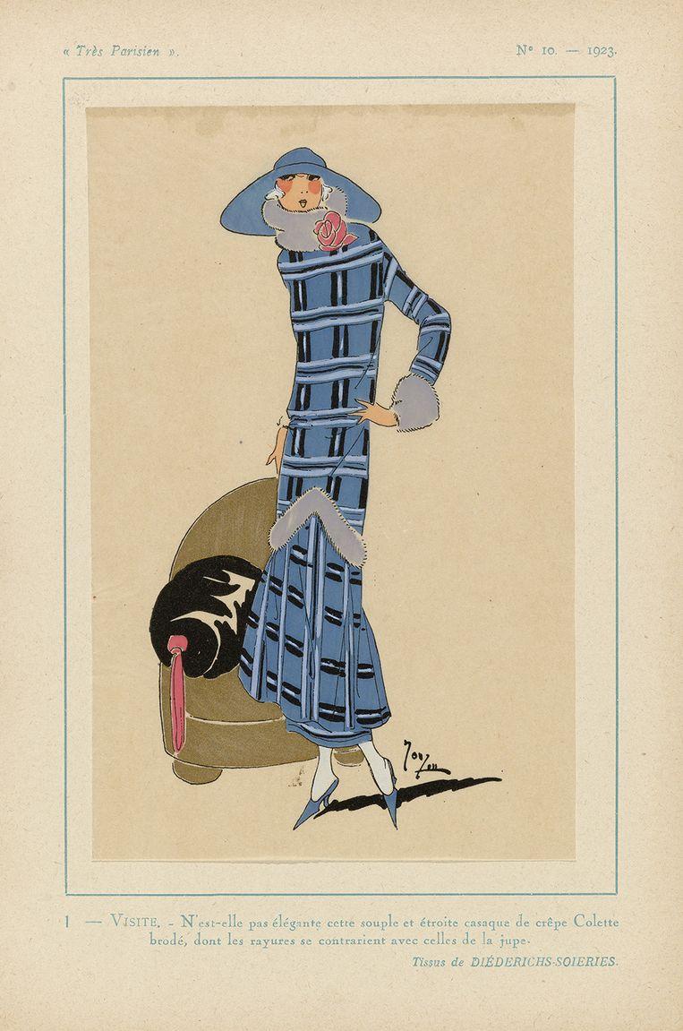 Prent uit 1923 uit het modetijdschrift Très Parisien (1920-1936). Beeld .