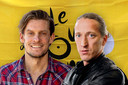 Wielerverslaggevers Thijs Zonneveld en Daan Hakkenberg in de Tour de France