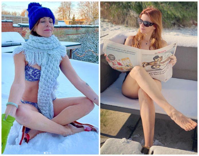 Katja Retsin en Bieke Ilegems doen mee aan de #icequeenchallenge