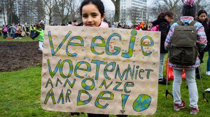 Duizend leerlingen houden klimaatactie op Linkeroever