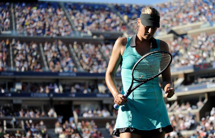 Maria Sjarapova op de US Open in 2010.