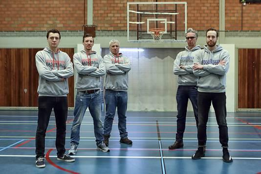 Bergen op Zoom - 23/03/17 - Team Giants vlnr: Davie, Jamie- en Corne Terheijden. Team Blauw-Wit: Rob en Dirk Mulder
