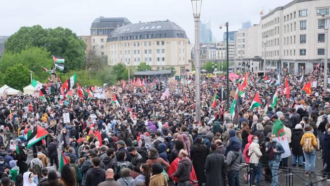 Conflict tussen Israël en Palestijnen: duizenden actievoerders betogen in Brussel