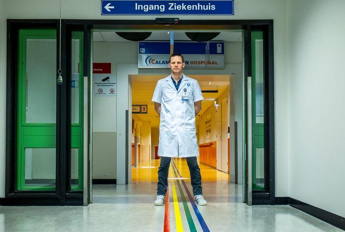 Marijn Houwert, traumachirurg van het UMC Utrecht op de eerste hulp, waar op 18 maart 2019 de slachtoffers van de tramaanslag werden binnengebracht.