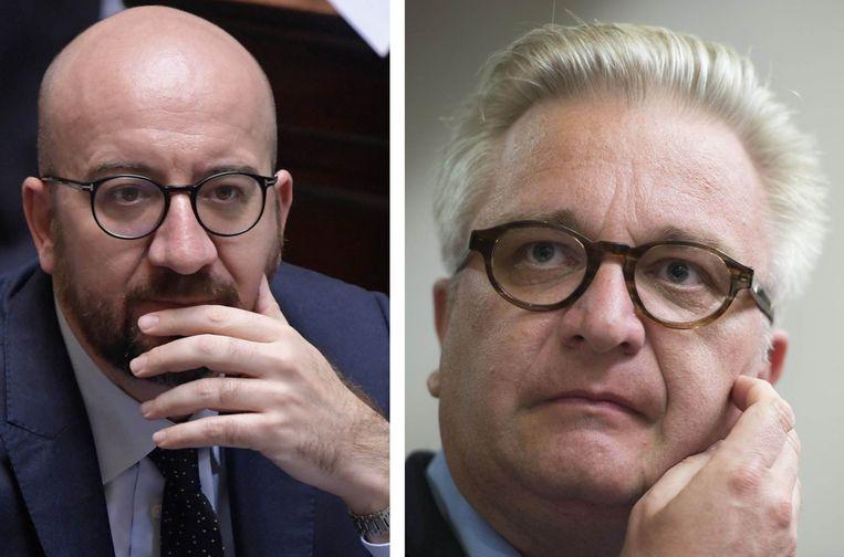Vooral premier Charles Michel krijgt het zwaar te verduren van de advocaat van prins Laurent: 'Hij heeft geen excuus, hij moet het Belgisch recht kennen.' Beeld photonews