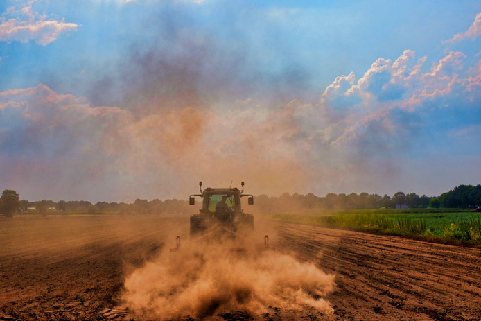 De droogte van afgelopen zomer veroorzaakt veel stof. Foto Jan van de Ven
