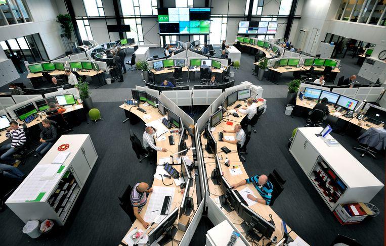 Het zenuwcentrum van de Nederlandse spoorwegen.  Beeld Raymond Rutting / de Volkskrant