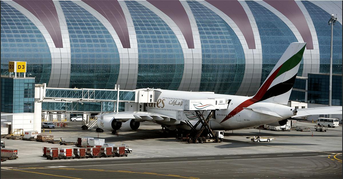 Artist impression: zonnefolie zoals het straks op het dak van een terminal op Dubai Airport kan liggen.