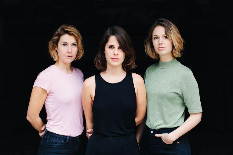 Audiocollectief Schik, met Siona Houthuys, Nele Eeckhout en Mirke Kist. Beeld Audiocollectief Schik