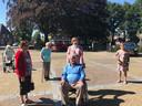 De groep van Dagje Thuis op het kerkplain in Helvoirt