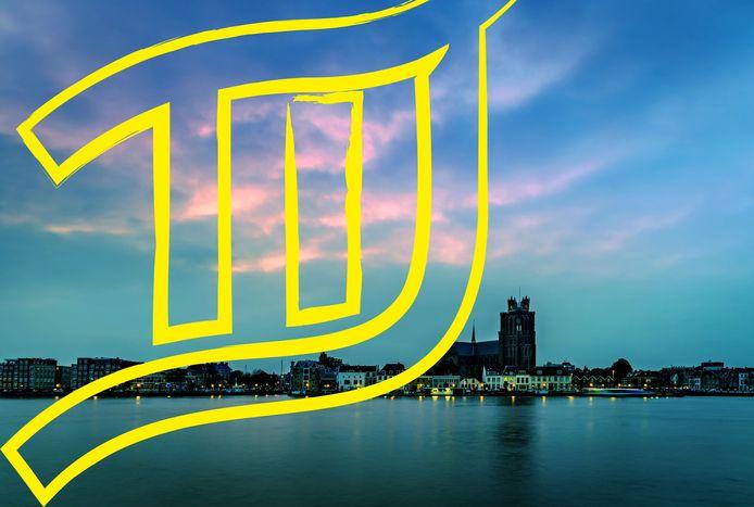 Het logo van het eerste Tij Festival, dat in oktober plaatsvindt in Dordrecht