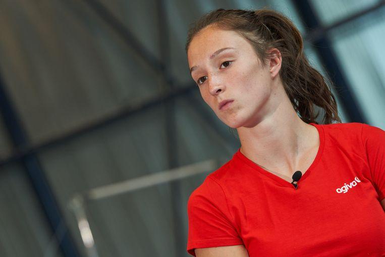 Nina Derwael in Gent. Beeld Photo News