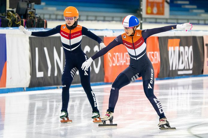 Xandra Velzeboer en Suzanne Schulting.
