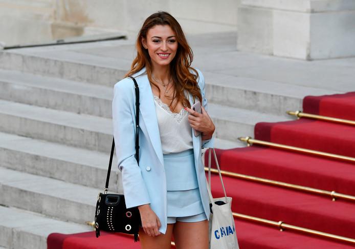 Rachel Legrain-Trapani, voormalig Miss France en vriendin van de Franse rechtsback Benjamin Pavard.